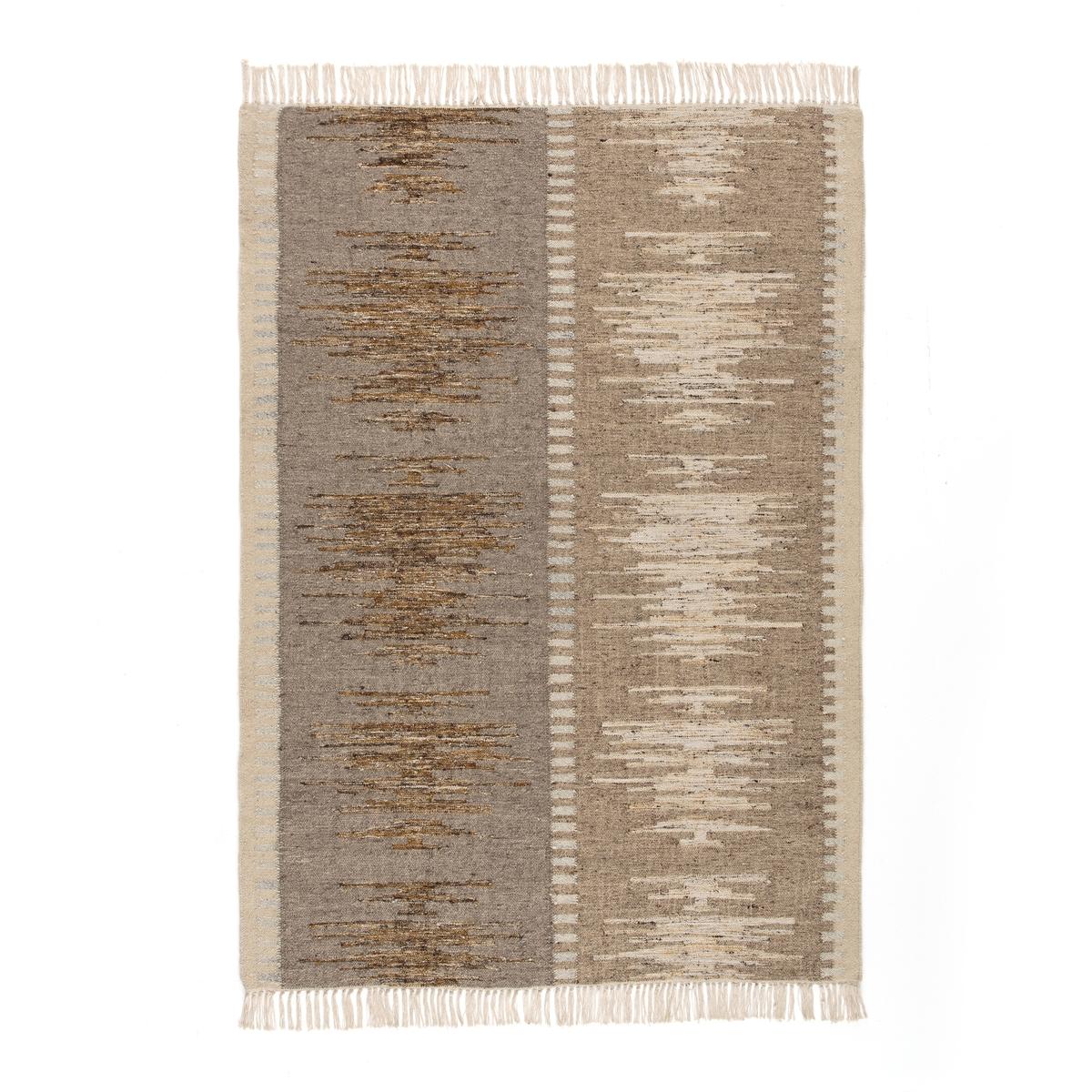цена Ковер La Redoute Килим из шерсти Folima 120 x 170 см бежевый онлайн в 2017 году