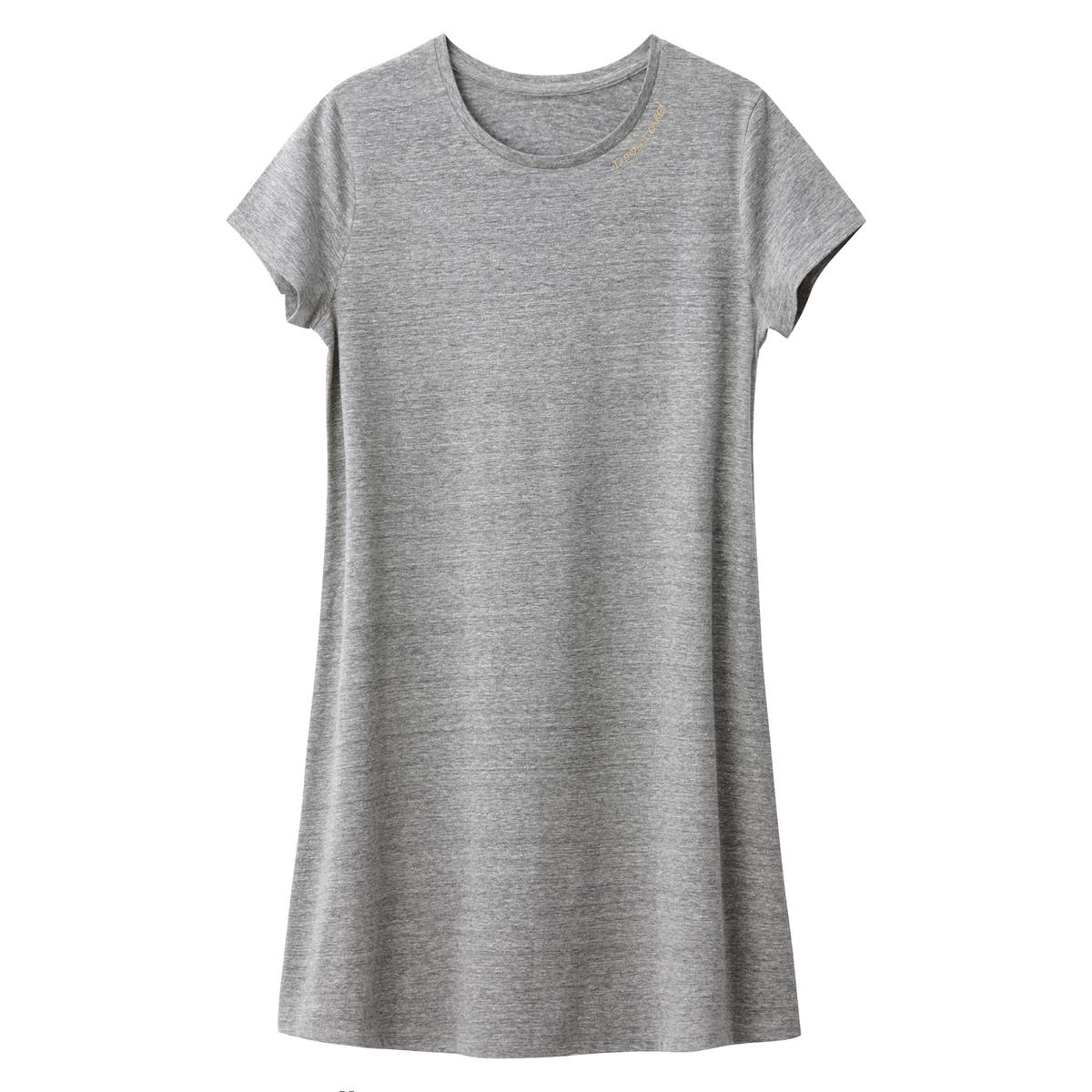 Платье-футболка расклешенное, 10-16 лет