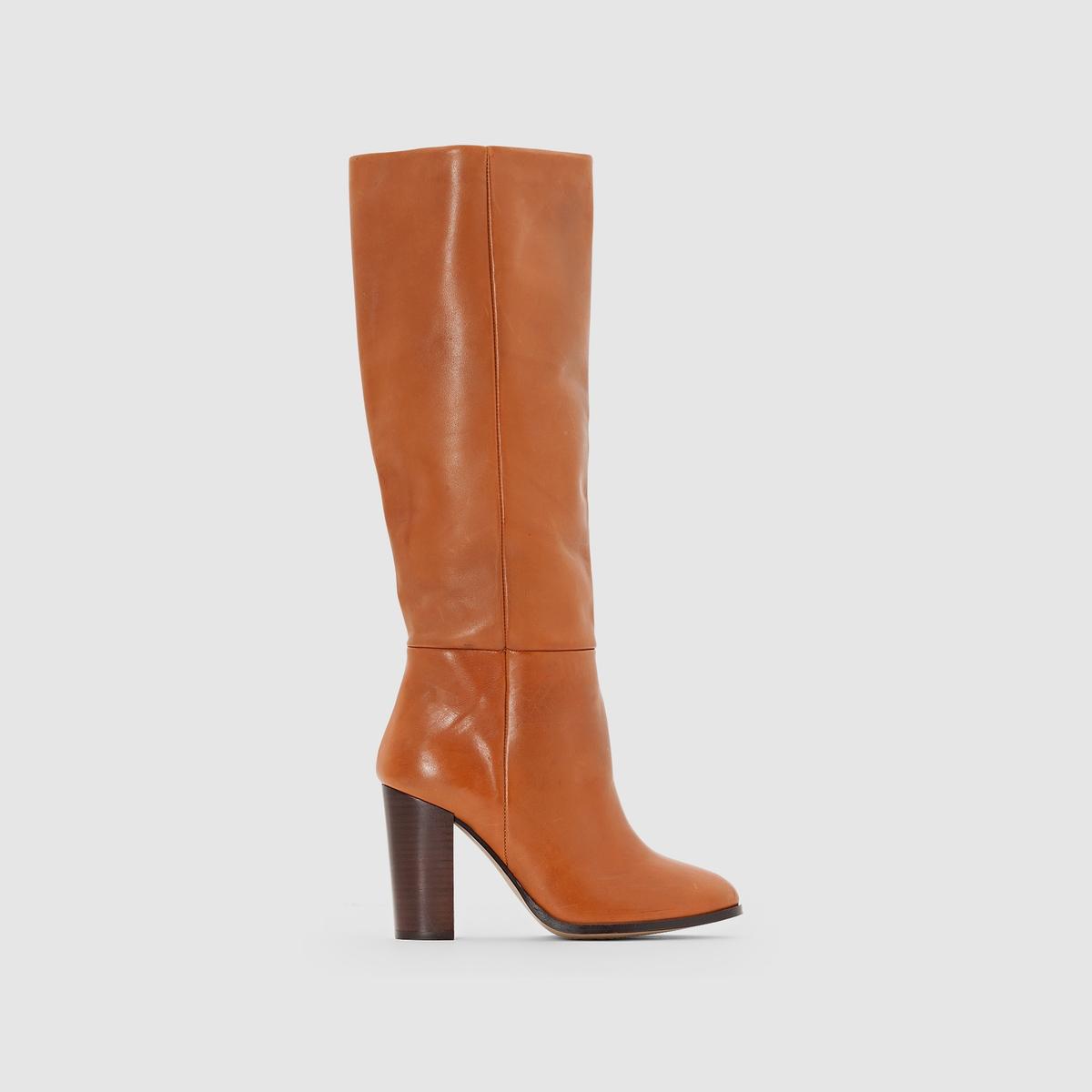 Сапоги кожаныеСапоги кожаные R STUDIOВерх: Кожа (яловичная)Подкладка: Кожа.Стелька: Кожа.Подошва: Эластомер.Высота каблука: 9 см.Застежка: На молнию. Преимущества: Не выходящие из моды сапоги из великолепной кожи, выполненные в невероятно стильном дизайне, актуальном в этом сезоне.<br><br>Цвет: бордовый,темно-бежевый,черный<br>Размер: 35.38.37.41.35.41.40.39.37.39