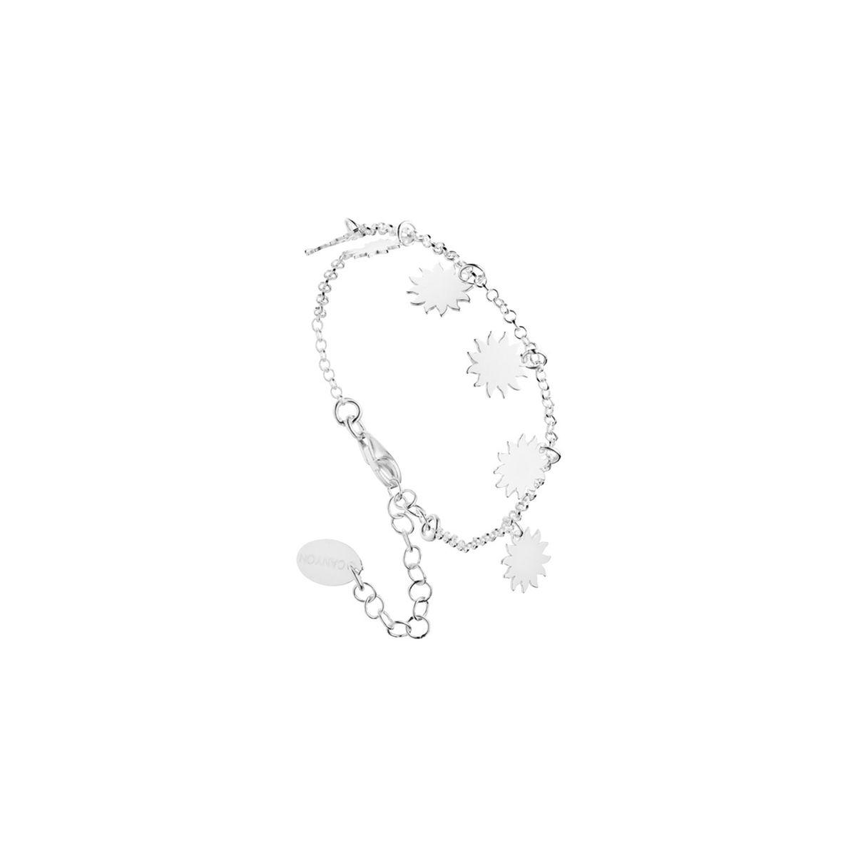Bracelet chaîne soleils en argent 925 passivé, 3.4g