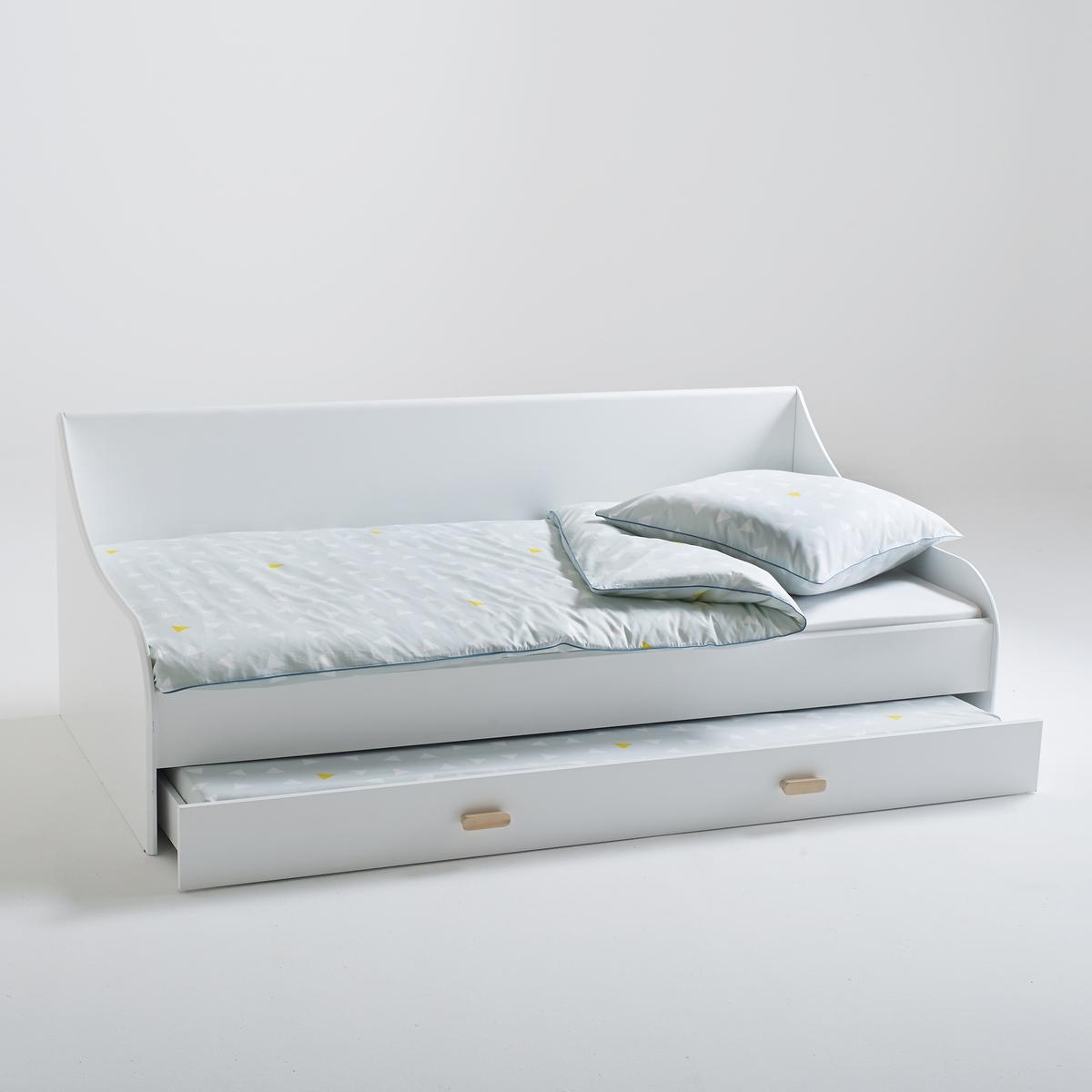Кровать-банкетка La Redoute Раздвижная JIMI 90 x 190 см белый кровать la redoute с основой под матрас trianon 140 x 190 см белый
