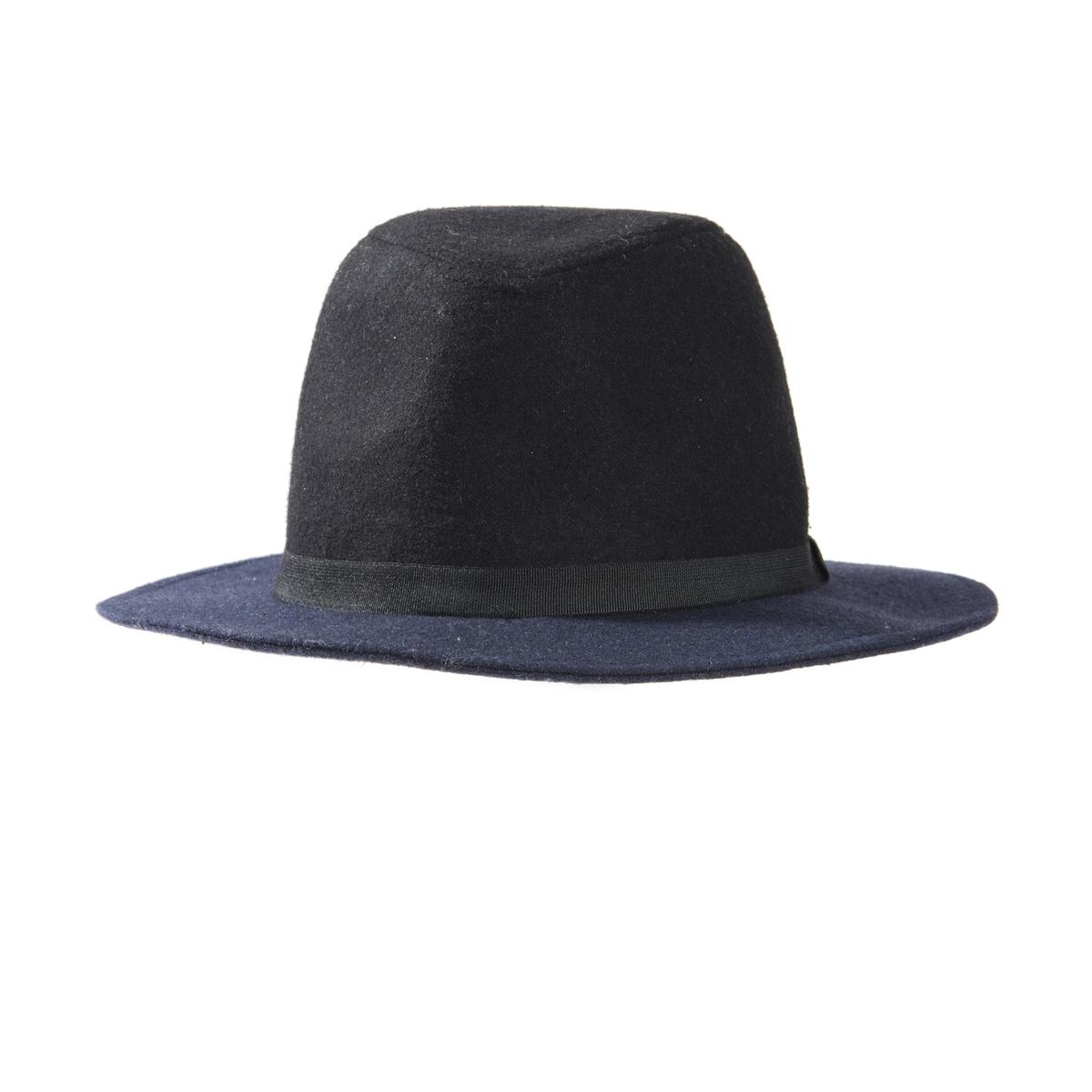 ШляпаОписание:Состав и описание :  •  Материал : фетр •  Марка :  Atelier R. Размер : единый<br><br>Цвет: черный/ синий<br>Размер: единый размер