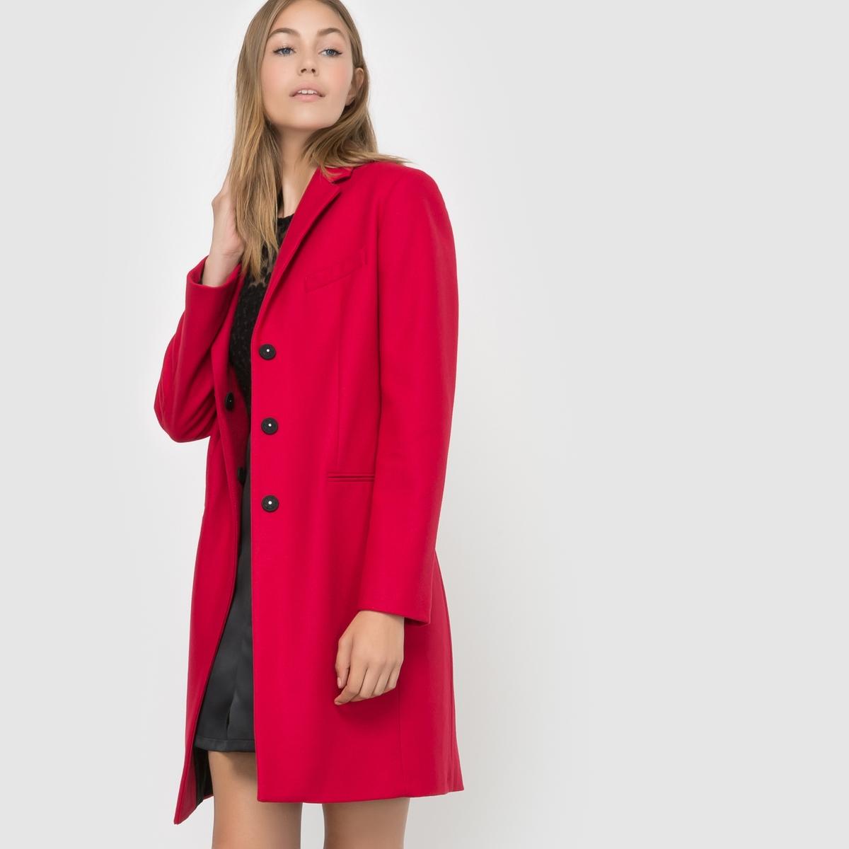 Пальто PLATFORM FELT LS CLASSIC COATСостав и описание :Материал : 75% шерсти, 20% полиамида, 5% кашемираМарка : FRENCH CONNECTION.<br><br>Цвет: красный<br>Размер: 36 (FR) - 42 (RUS)