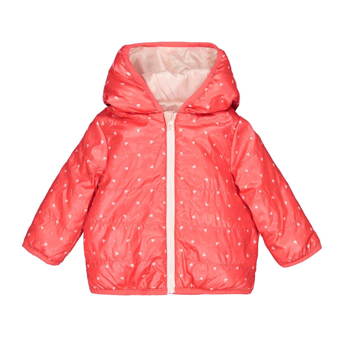 цена Куртка La Redoute Двусторонняя с капюшоном мес - года 3 мес. - 60 см розовый онлайн в 2017 году