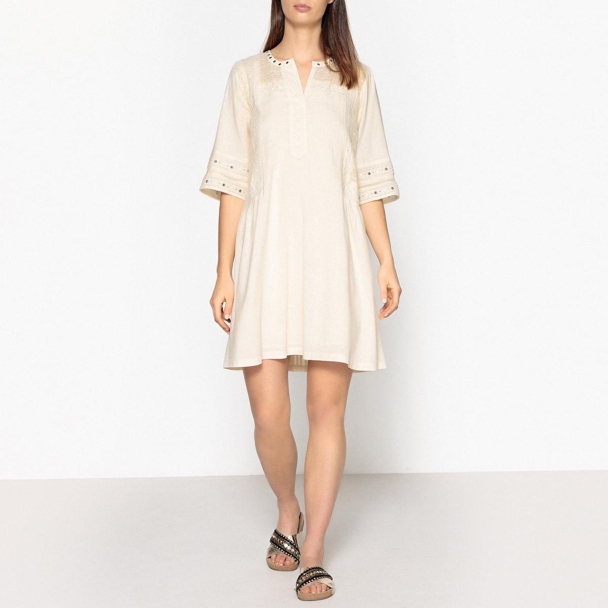 Платье короткое с люверсами и вставками из кружева maison scotch maison scotch 133 1621 0351131250 c
