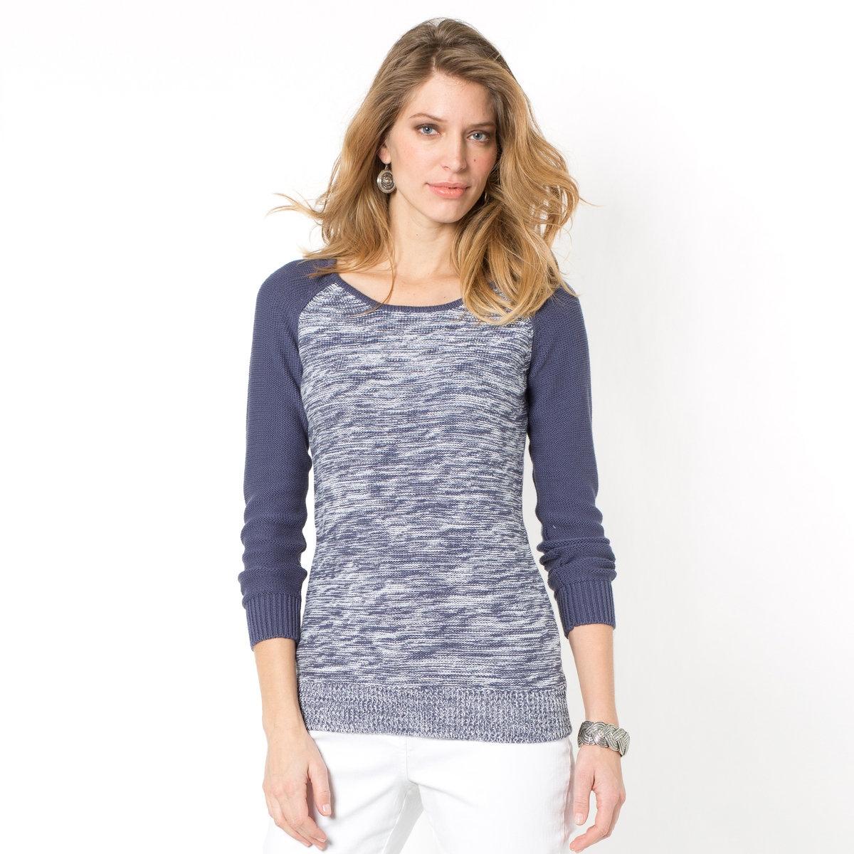 Пуловер из фантазийного трикотажа