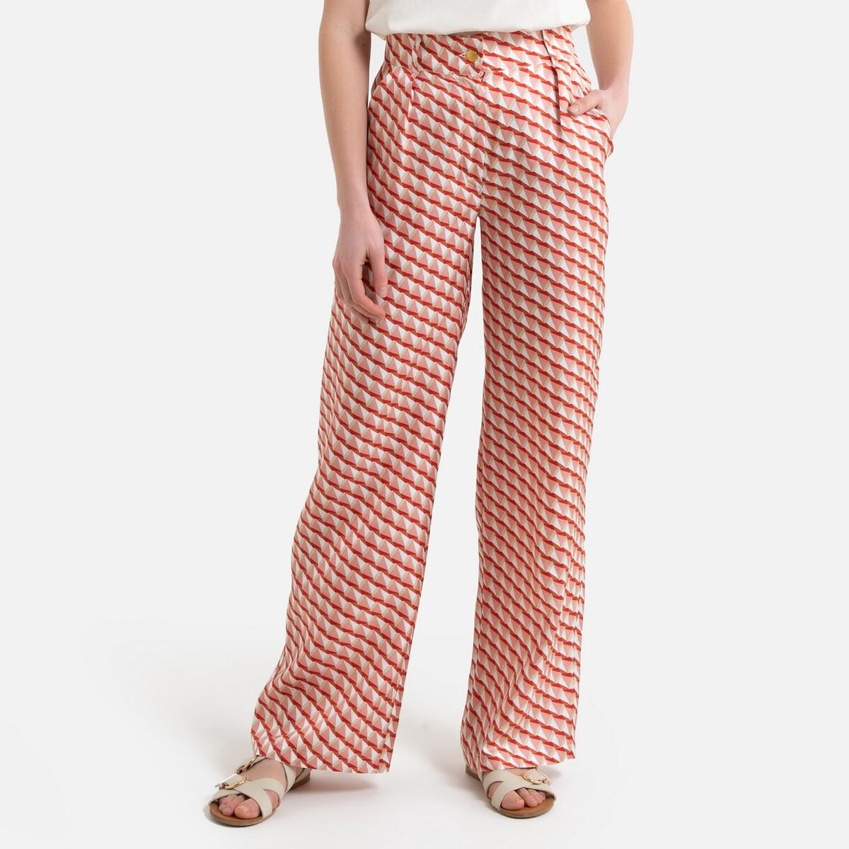Pantalon large en soie taille haute JOSEPH