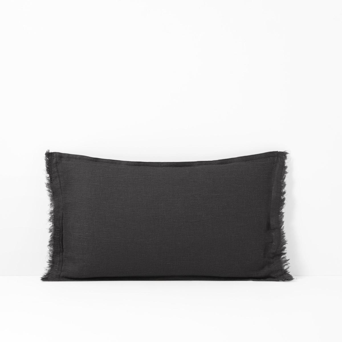 Фото - Чехол на подушку-валик из осветленного льна LINANGE чехол на подушку валик tasuna