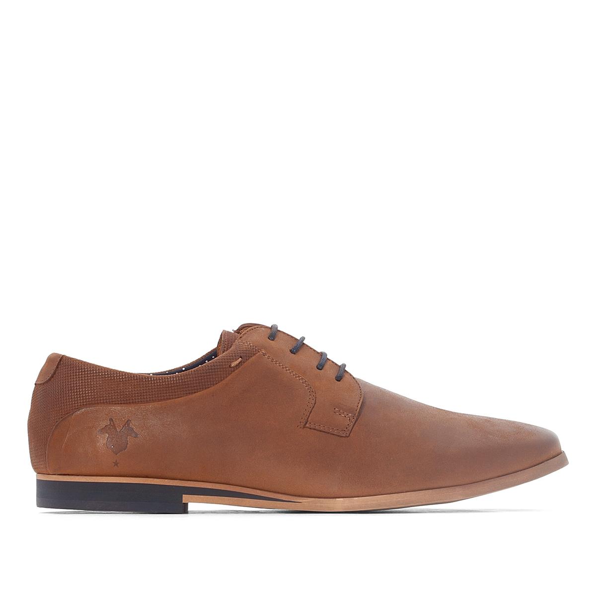 Ботинки-дерби кожаные Epia3Верх : кожа (яловичная)   Подкладка : кожа, полотно   Стелька : кожа   Подошва : эластомер   Застежка : шнуровка<br><br>Цвет: коньячный<br>Размер: 43