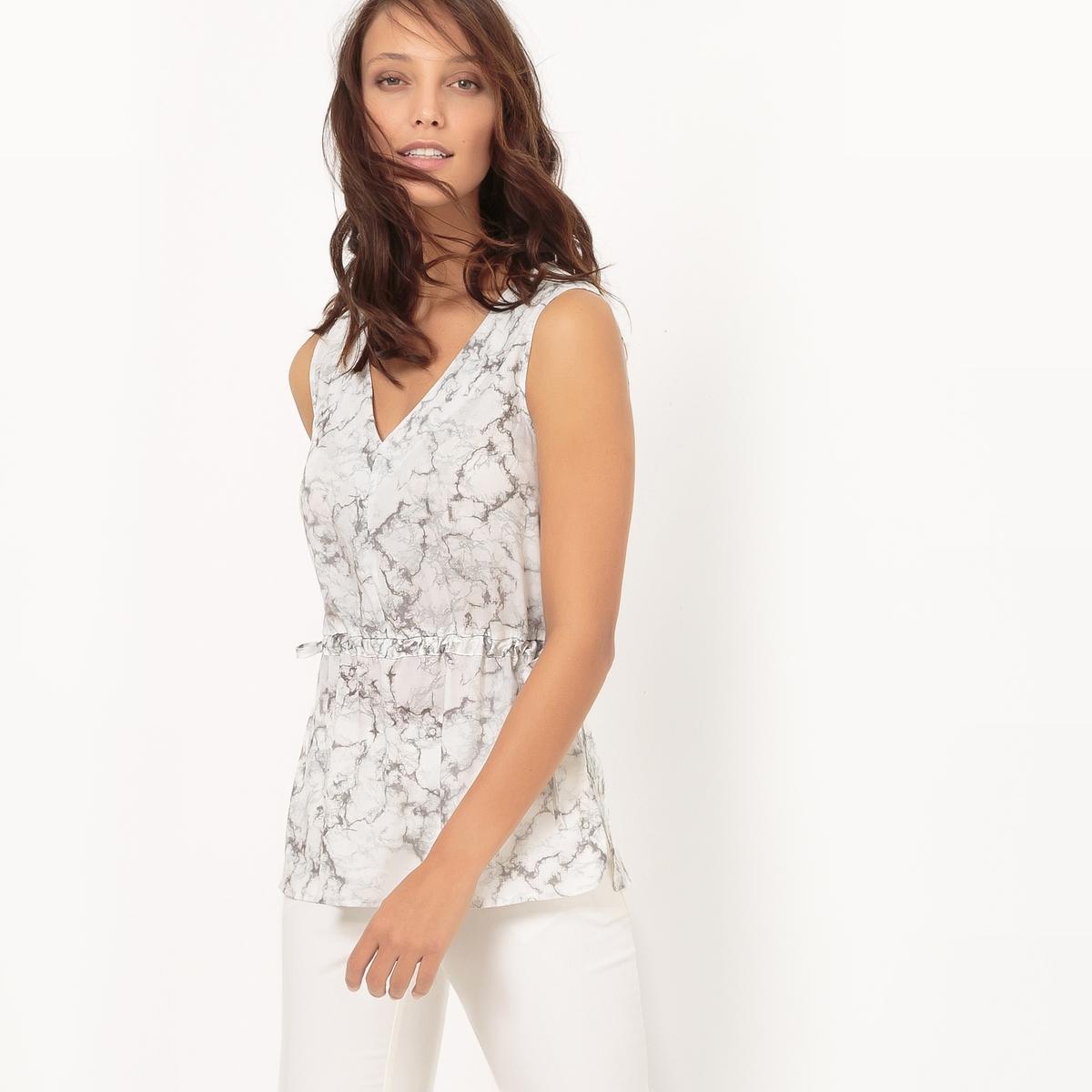 Блузка с мраморным рисунком