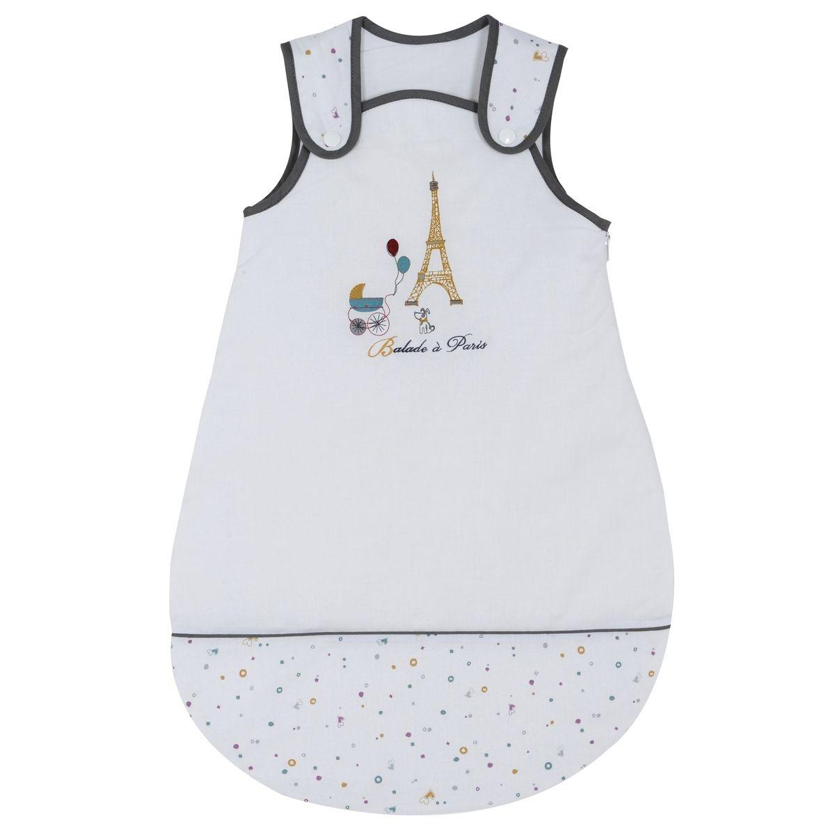 Gigoteuse naissance P'tit Basile Collection 'Little Paris' - 0-6 mois - Blanc
