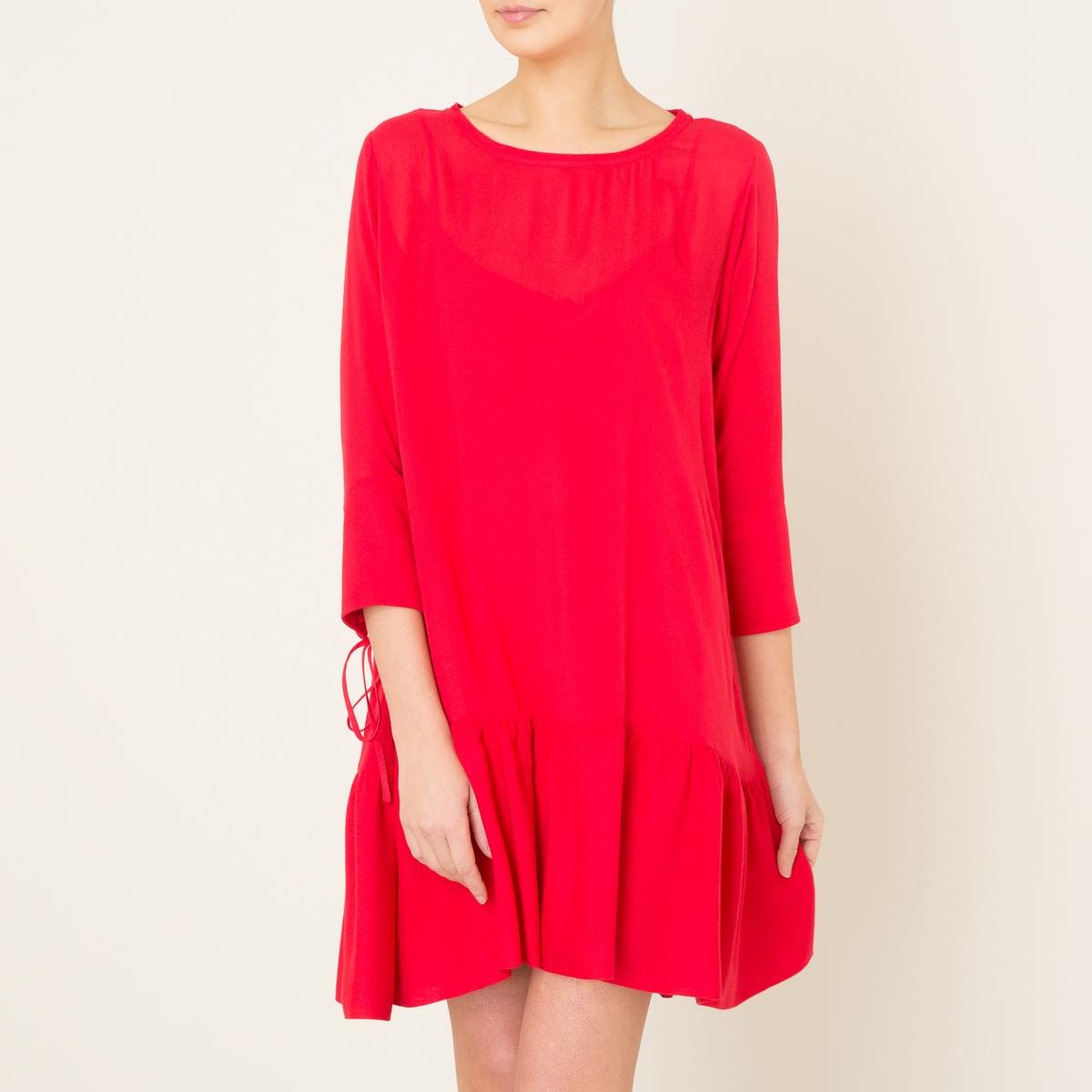 Платье широкого покрояСостав и описание   Материал : 100% вискоза   Подкладка : 100% вискоза   Марка : THE KOOPLES<br><br>Цвет: красный