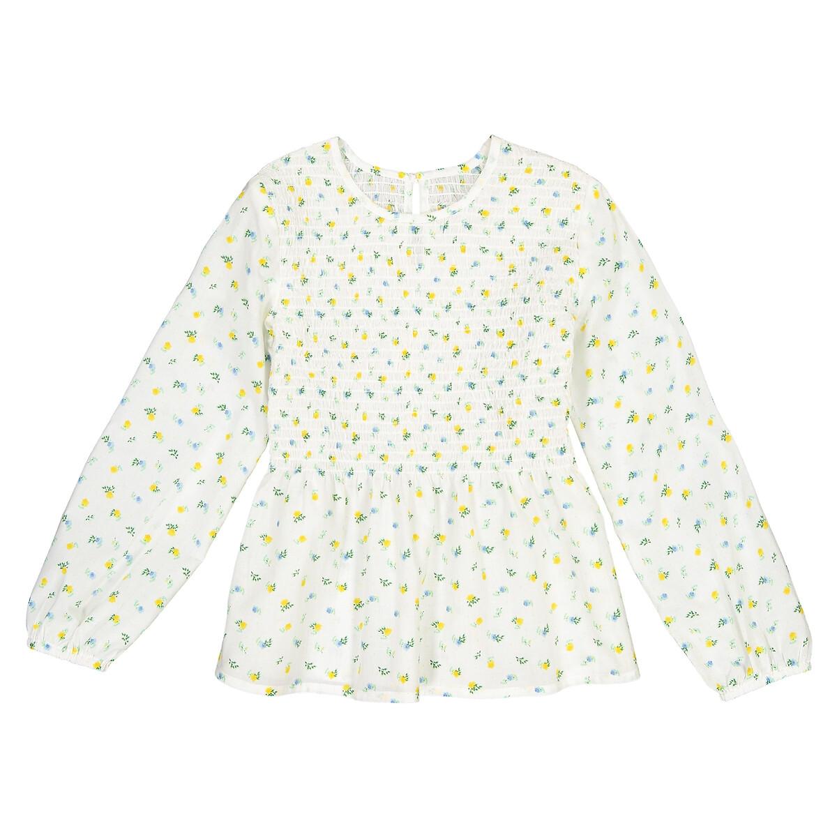 Блузка La Redoute С длинными рукавами с цветочным принтом 10 лет - 138 см другие пижама la redoute с шортами и цветочным принтом 12 лет 150 см другие