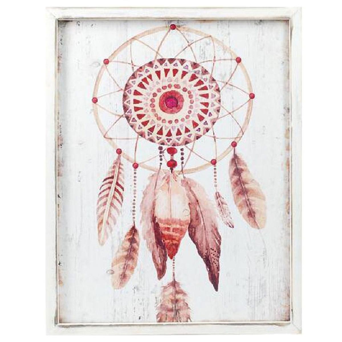 Cadre en bois Collection Apache - Attrape Rêve 40 x 30 cm