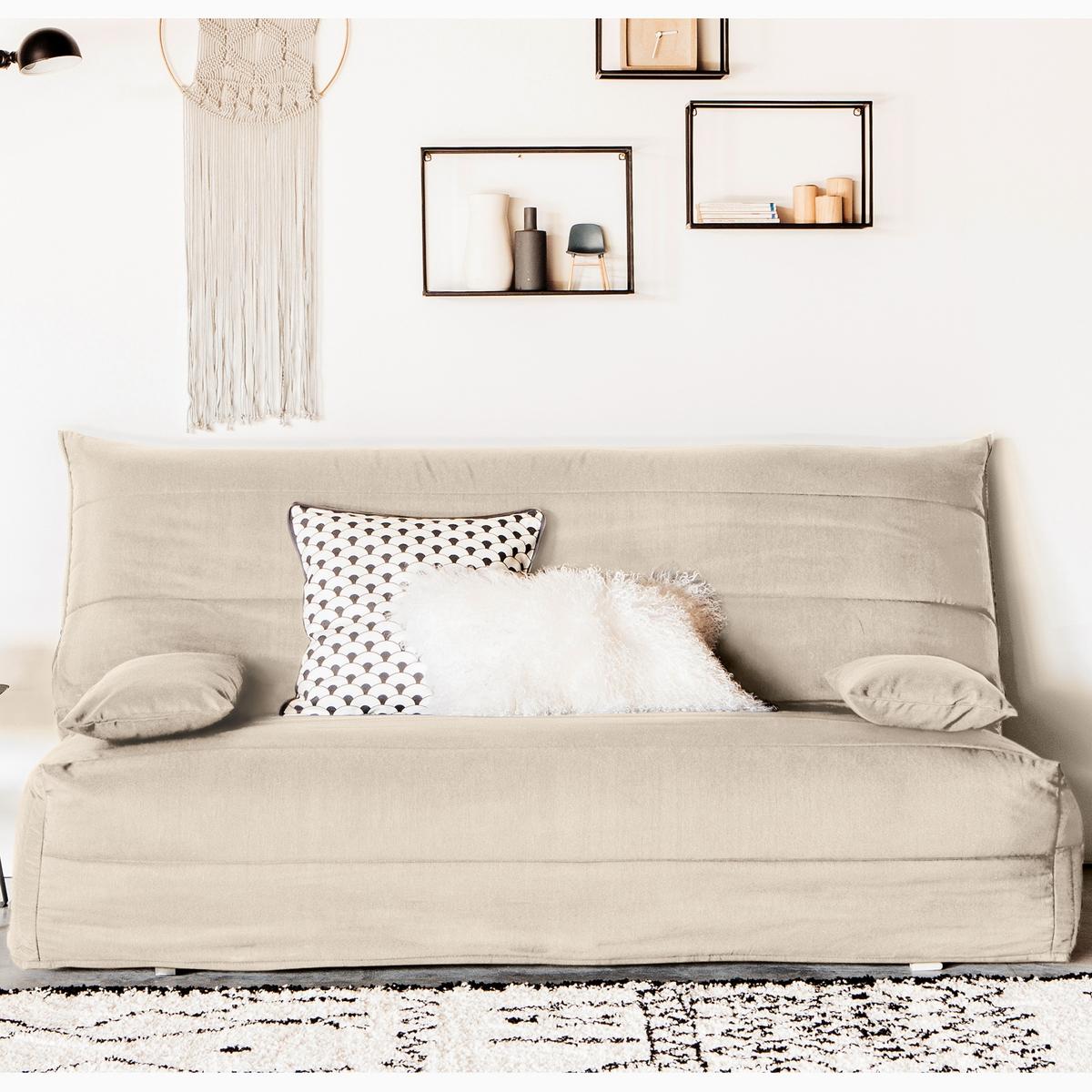 цена Чехол La Redoute Стеганый из поликоттона для дивана-аккордеона 160 см бежевый онлайн в 2017 году