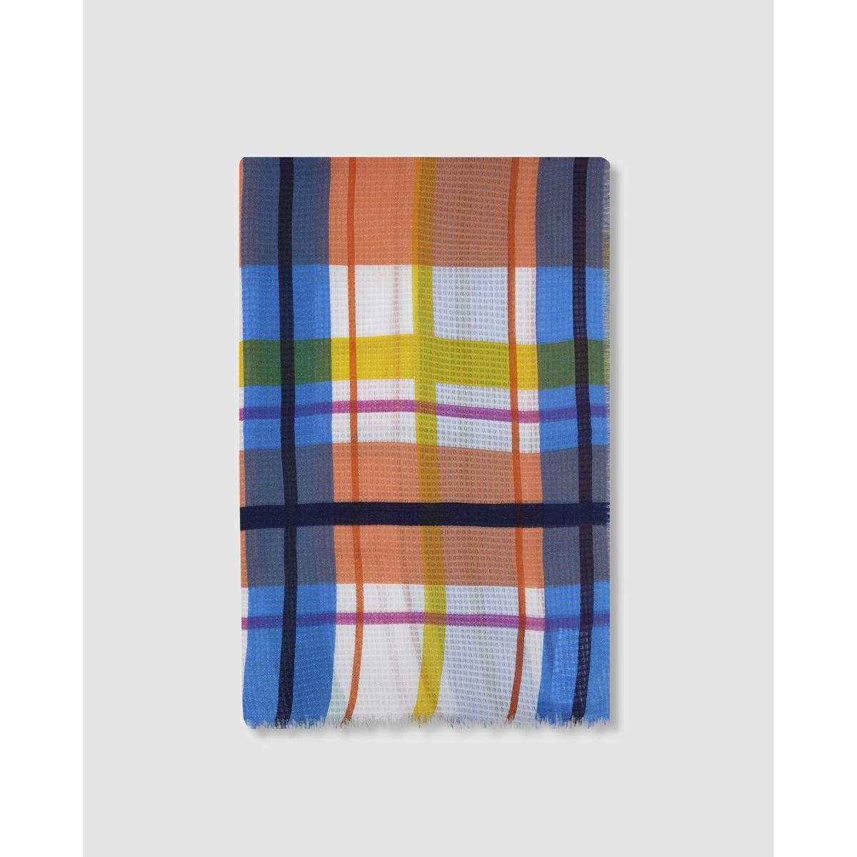 Grand foulard imprimé à carreaux