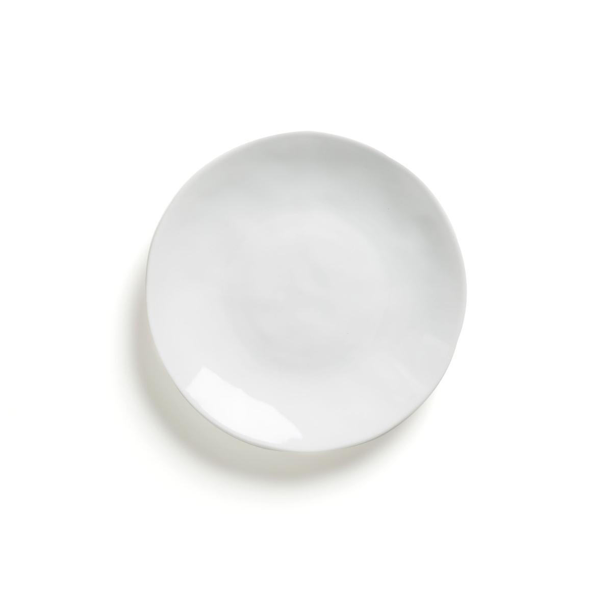 Фото - Комплект из 4 десертных тарелок LaRedoute Из керамики Kilmia единый размер белый кеды laredoute из кожи на липучках 2639 33 белый