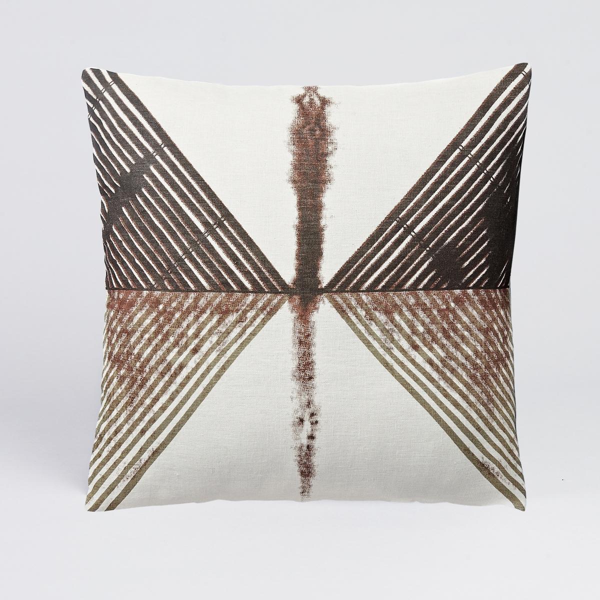 Чехол на подушку-валик Marmor<br><br>Цвет: рисунок каштан