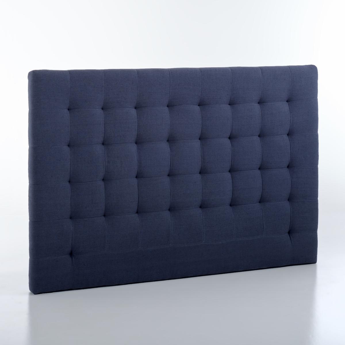 Изголовье La Redoute Кровати с обивкой из осветленного льна В см SELVE 140 см синий чехол из льна с помпонами для изголовья кровати sandor
