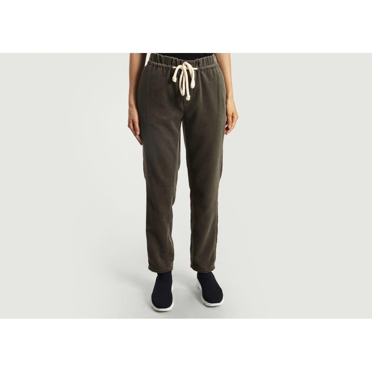 Pantalon En Velours Blanch
