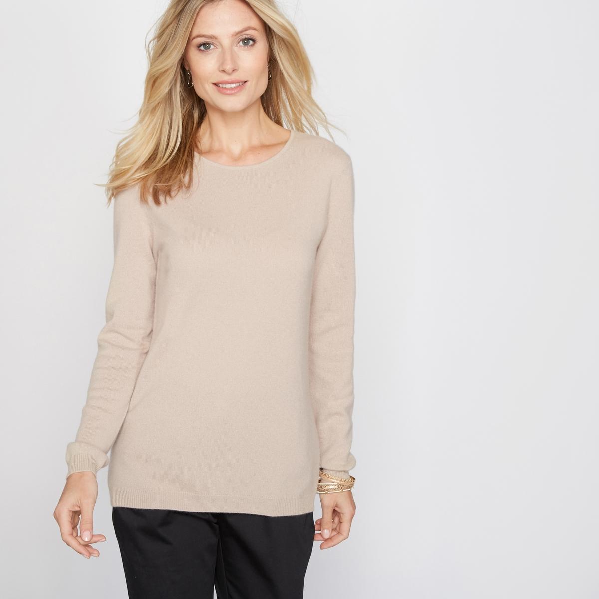 Пуловер, 100% кашемира, с круглым вырезом из тонкого трикотажаПодарите себе наслаждение невероятной легкостью, мягкостью и теплом кашемира! Нежнейший трикотаж, 100% кашемира. Круглый вырез. Низ длинных рукавов и пуловера связан в рубчик. Длина 60 см.<br><br>Цвет: бежевый экрю<br>Размер: 42/44 (FR) - 48/50 (RUS).50/52 (FR) - 56/58 (RUS)