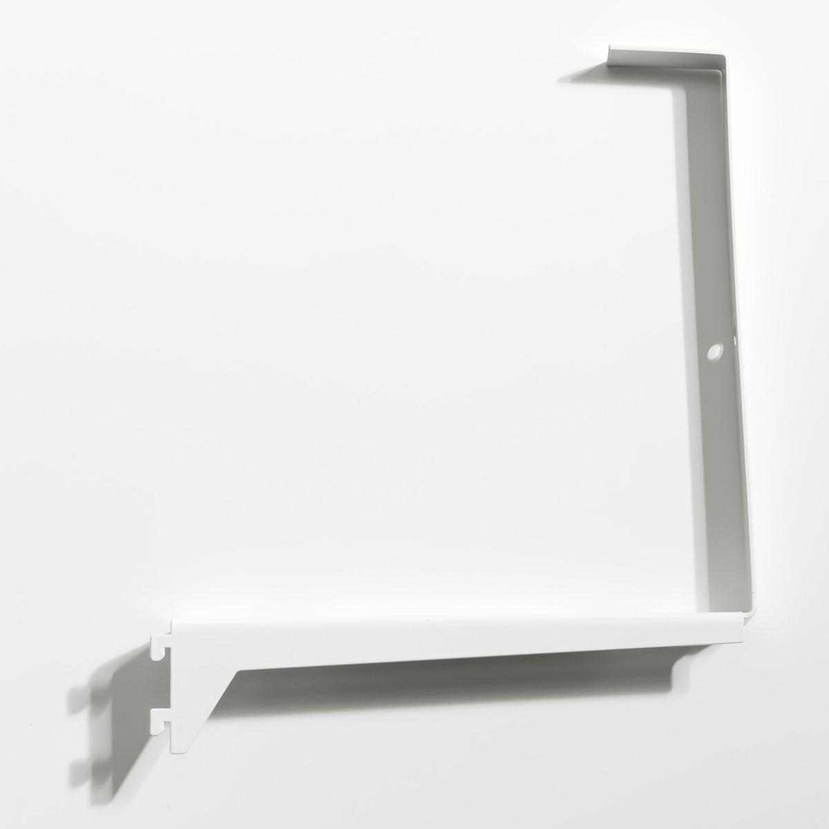 Уголковый кронштейн для ящиков Kyriel (2 шт)2 уголковых кронштейна из металла с эпоксидным покрытием для гардероба  Kyriel .Эти кронштейны необходимы для монтажа любого ящика .Позволяют регулировать высоту ящиков при желании .Крепится на стойки .Размеры кронштейна : Длина 22,1 x Ширина 27,9 x толщина 2,5 см .    Мебель для гардеробной Kyriel - это модулируемая при желании система, эстетичная и практичная, созданная для любых пространств и стилей  .<br><br>Цвет: черный