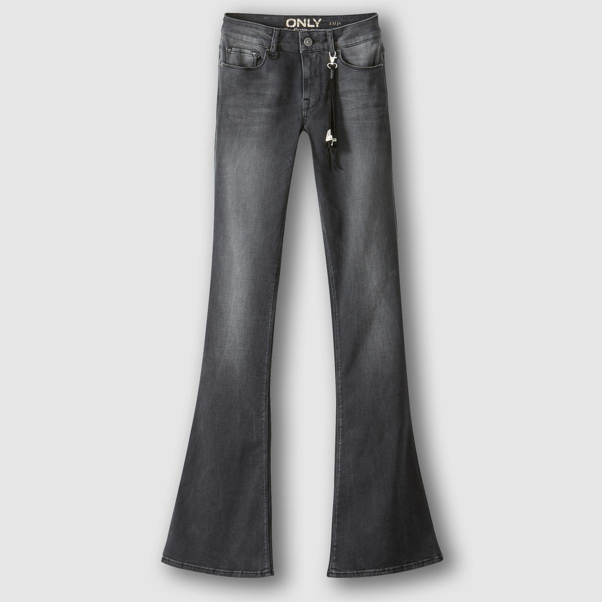 Jeans flare desbotados, RIO, comprimento 32