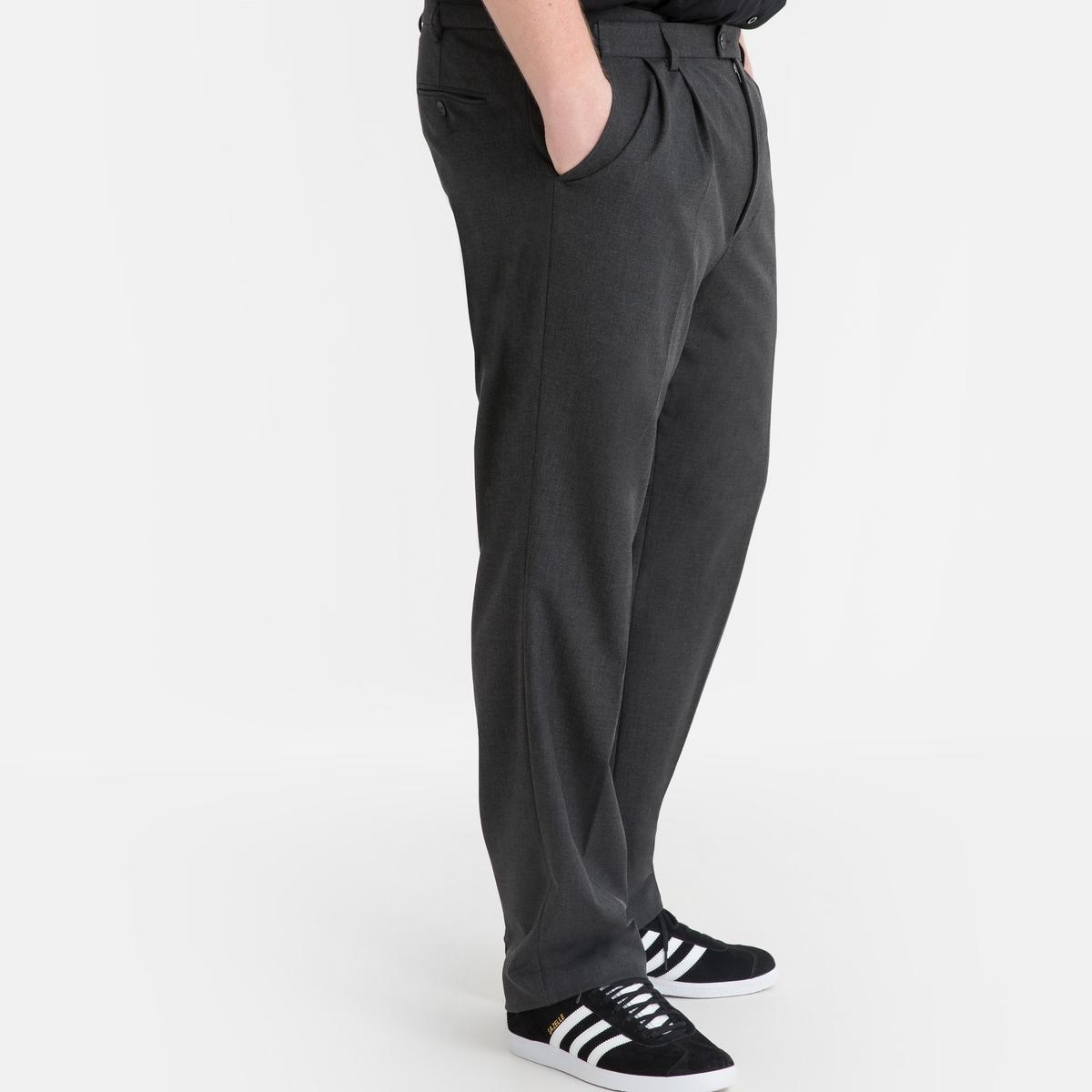 Calças de fato, com pinças, stretch, comp. 2