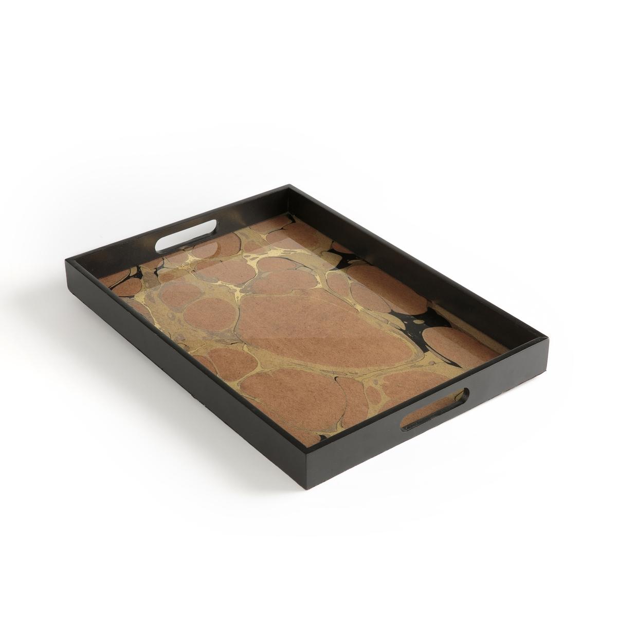 Поднос La Redoute Стеклянный Colko единый размер черный стол la redoute журнальный из бетона ademola единый размер серый