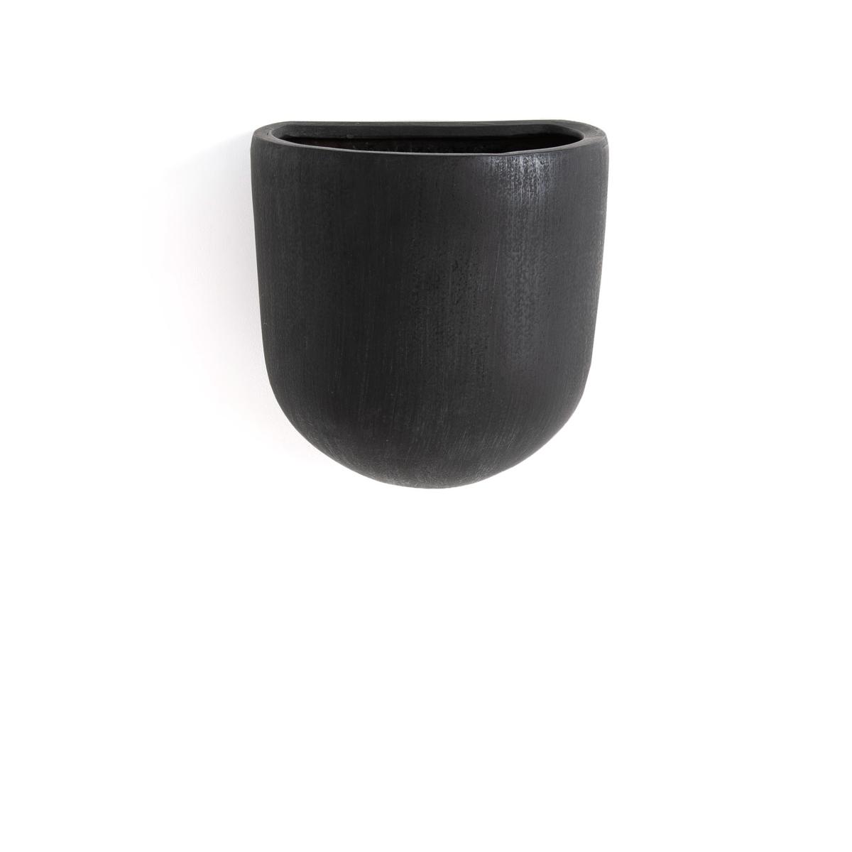 Кашпо La Redoute Настенный из керамики Sira единый размер черный кашпо la redoute из керамики в см euphyllia единый размер синий