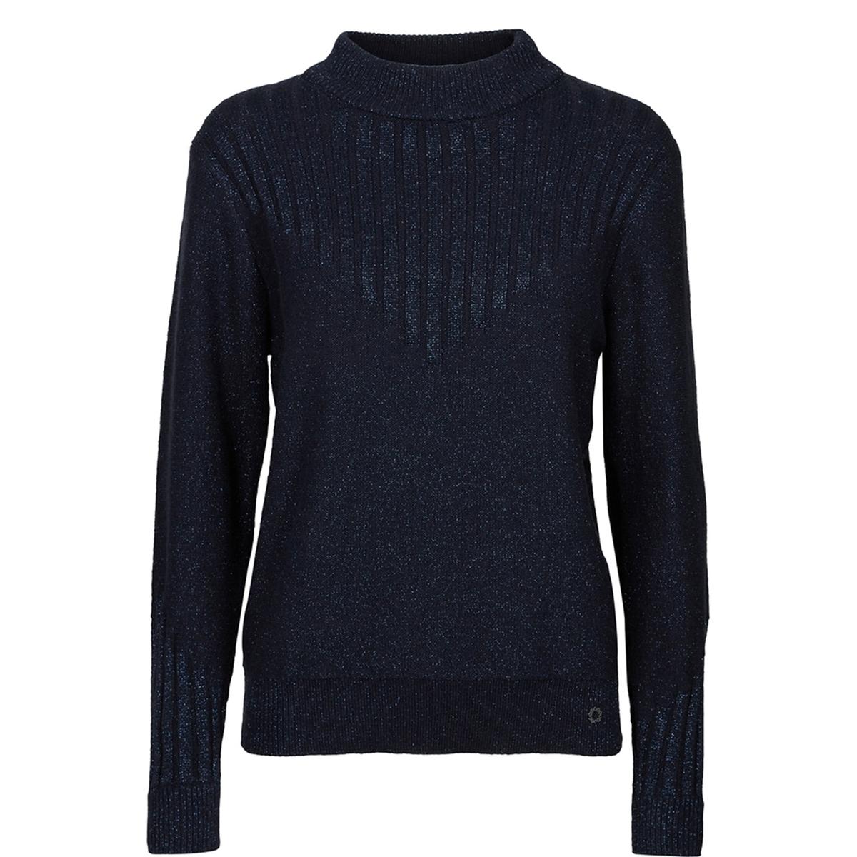 Пуловер с высоким воротником BarbaraСостав и описаниеМатериал : 42% хлопка, 24% полиамида, 20% волокон с металлическим блеском, 10% шерстиУходСледуйте рекомендациям по уходу, указанным на этикетке изделия<br><br>Цвет: темно-синий<br>Размер: XL