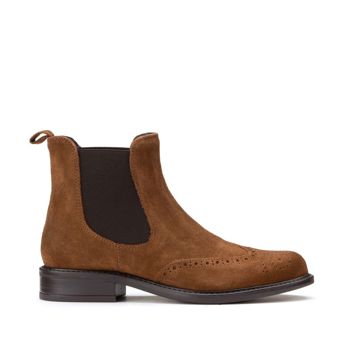 Boots cuir Trim