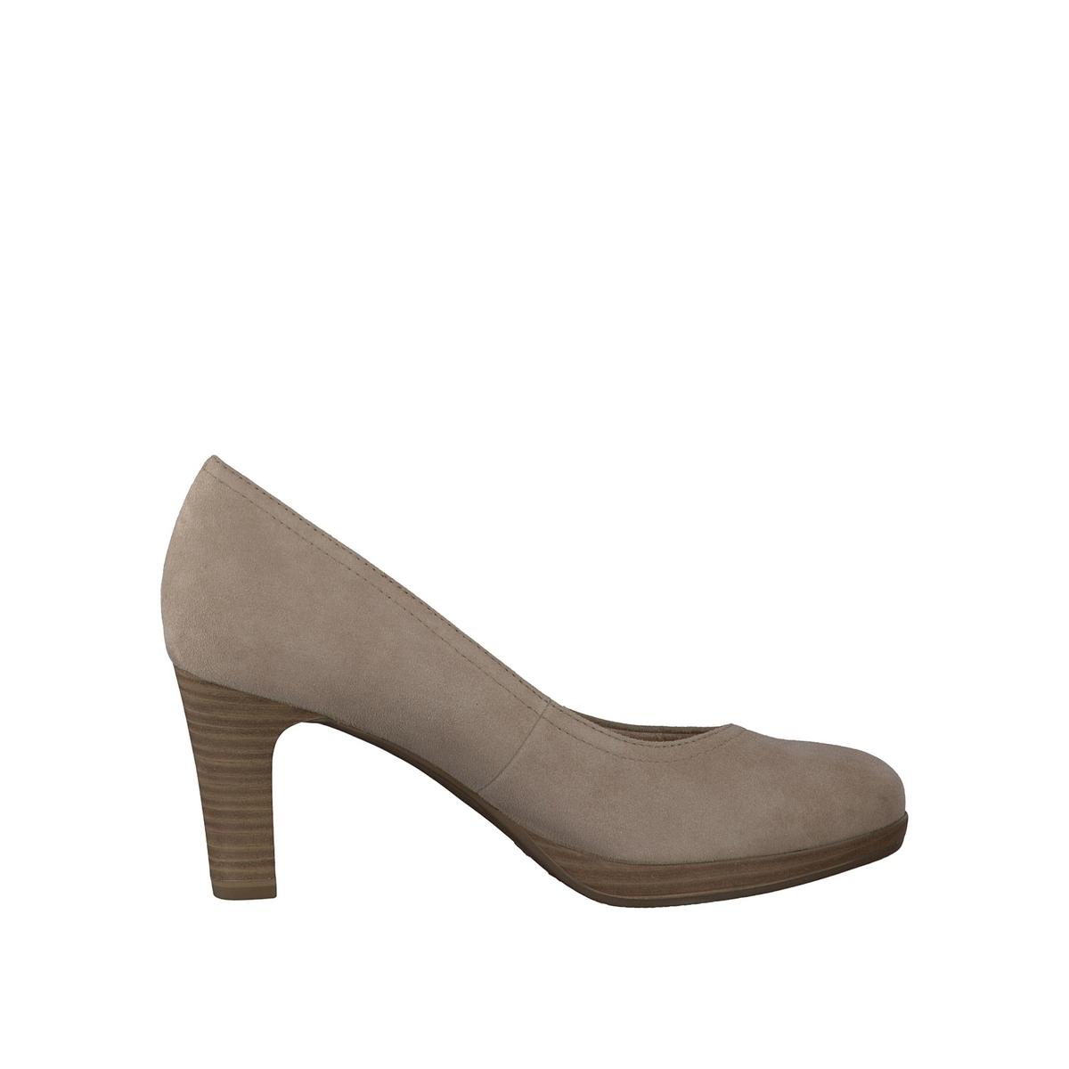 Туфли кожаные 22410-28Верх: кожа.   Подкладка: текстиль и синтетика.Стелька: синтетика.Подошва: синтетика.Высота каблука: 7 см.Форма каблука: тонкий каблук.    Мысок: закругленный.Застежка: без застежки.<br><br>Цвет: бежевый,красный,синий деним,черный<br>Размер: 41.39.37.39