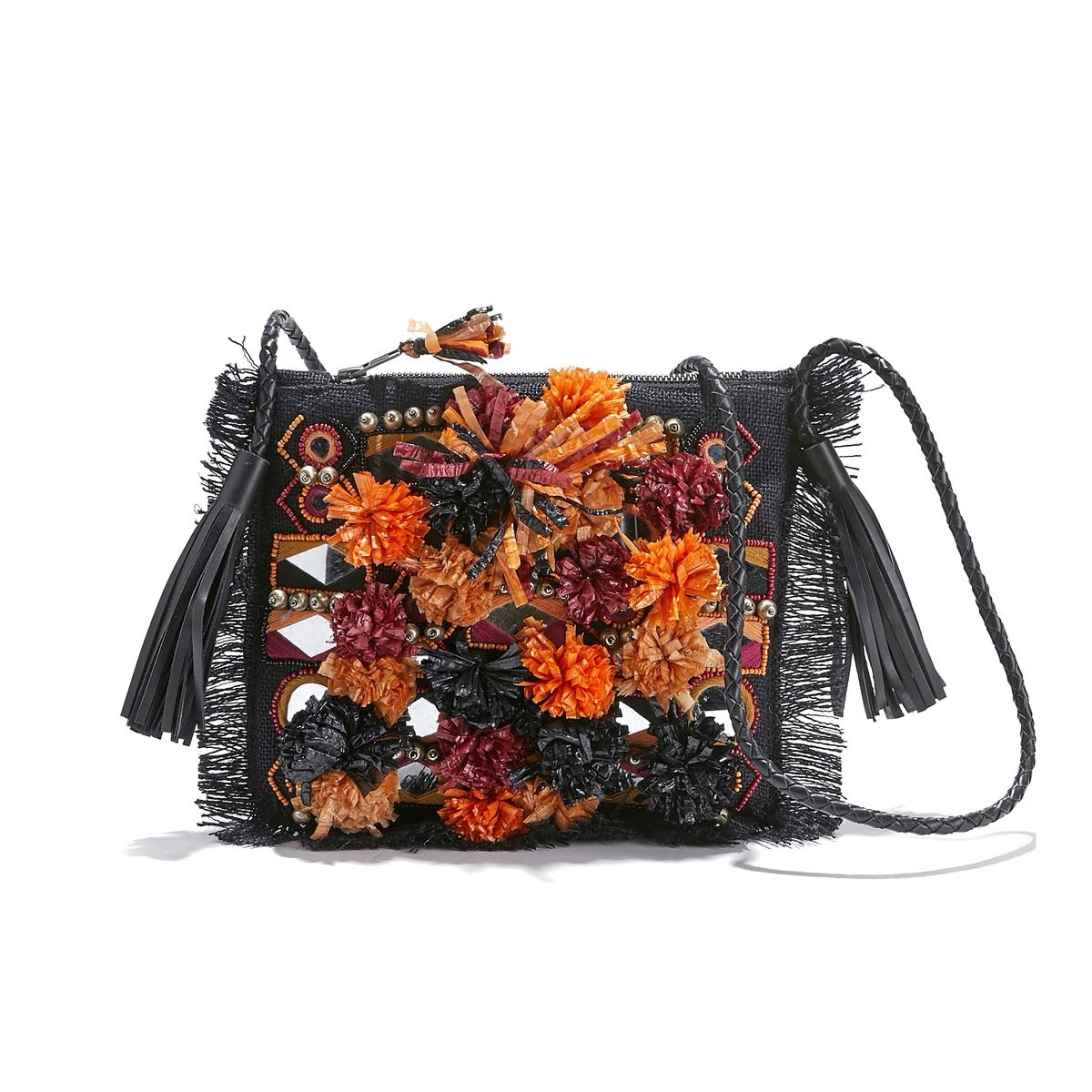 Сумка с вышивкой и кисточками CHARLIE POUCH antik batik сумка на руку