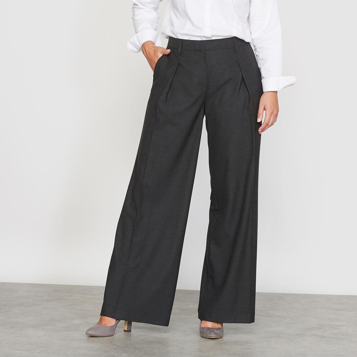 Широкие фланелевые брюки с вытачками