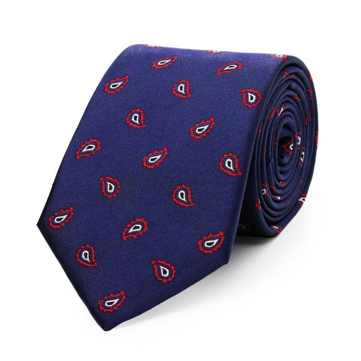 Cravate en pure soie à motif cachemire
