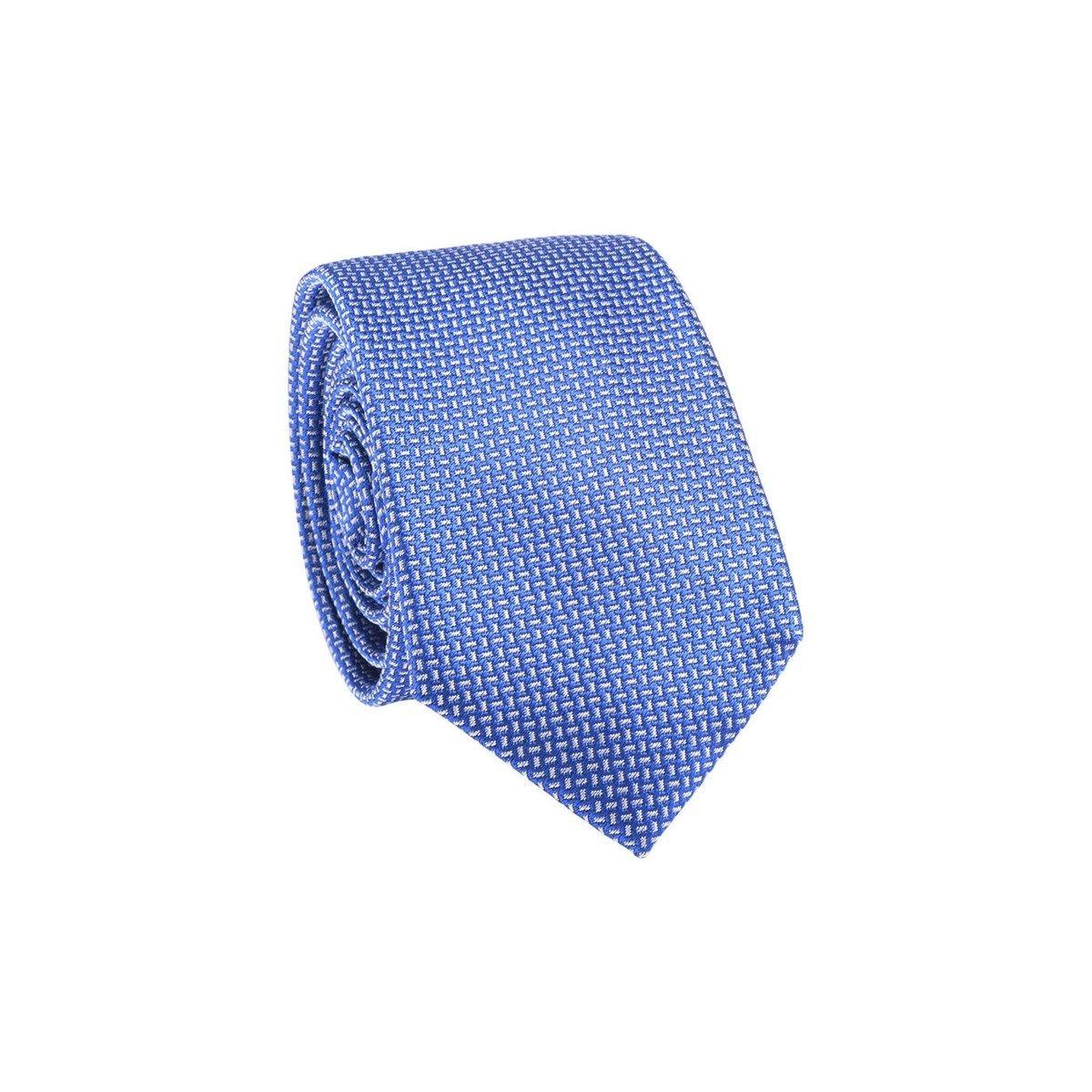 Cravate soie rectangle effet tisse