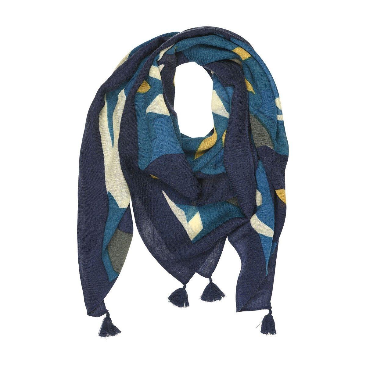 Foulard  feuilles 100% laine