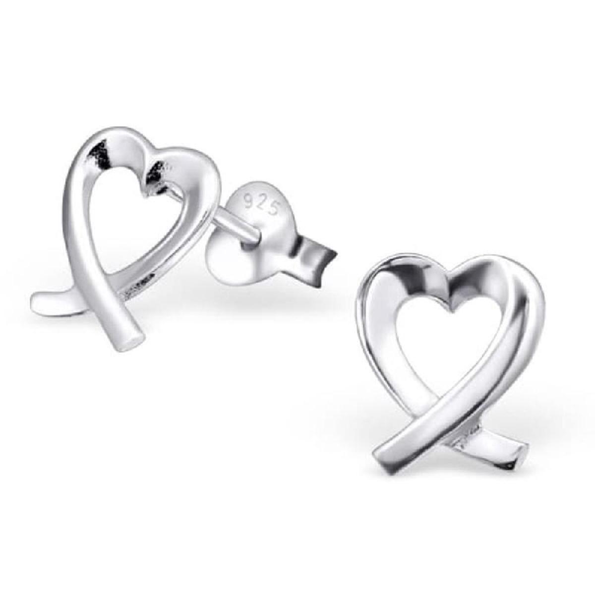 Boucles d'oreilles Coeur Argent 925