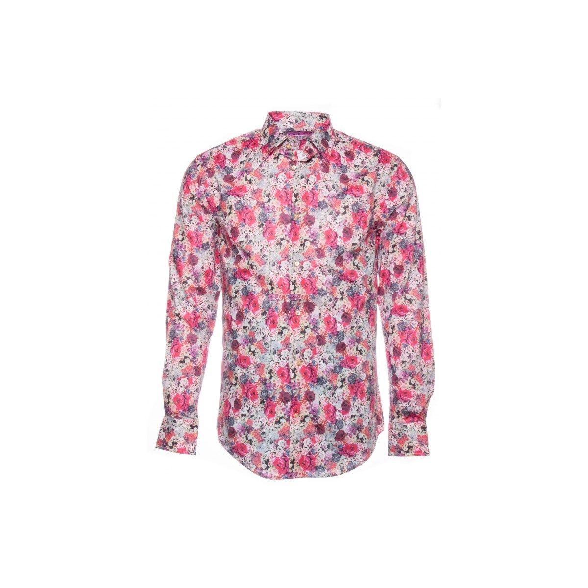 Chemise roses ajustée
