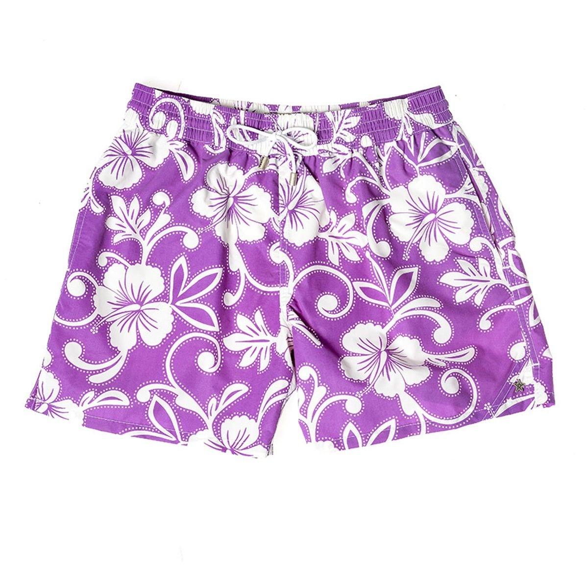 Maillot de bain fleuri violet FUTUNA