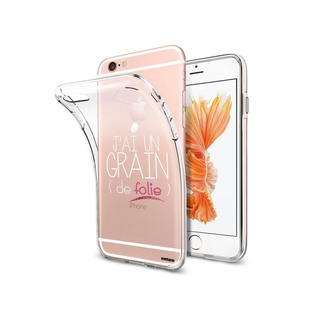 Coque iPhone 6 Plus / 6S Plus souple transparente, Grain De Folie, Evetane®