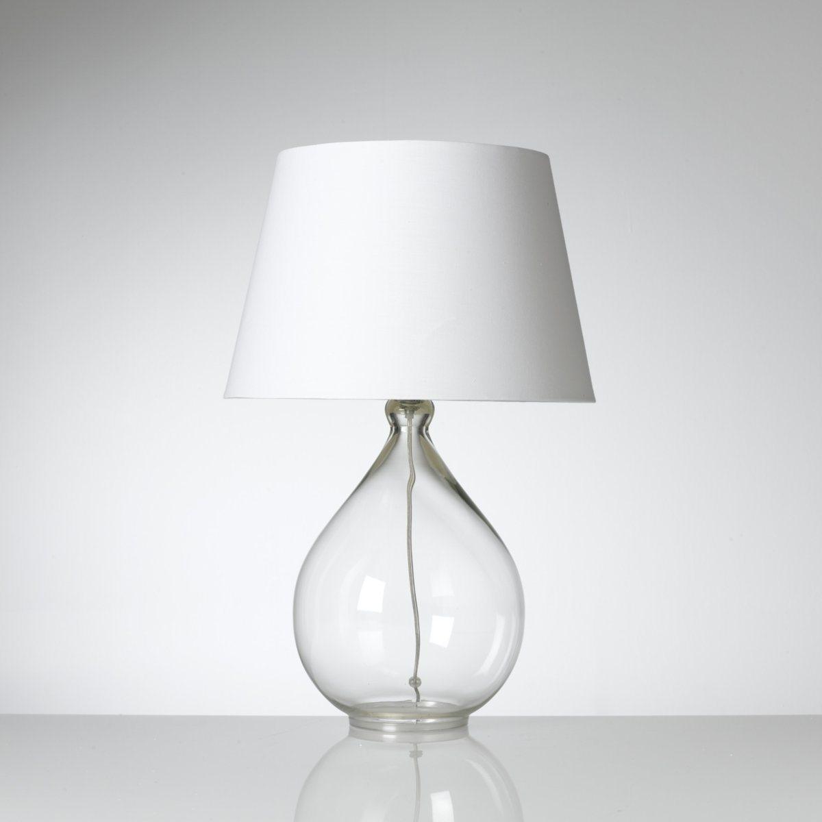 Лампа настольная, IzzaХарактеристикиОписание лампы Izza : Ножка из стекла Абажур из хлопка Электрический кабель из пластика  Характеристики лампы  Izza   : Прозрачная ножка Прозрачный электрический шнур Патрон E14 для лампочки макс. 40W   . (не входит в комплект)  Этот светильник совместим с лампочками    энергетического класса  : A-B-C-D-EВсю коллекцию светильников вы можете найти на сайте laredoute.ru.Размеры лампы Izza : Ножки :Диаметр : 25,5 смАбажур :Диаметр внизу : 35 смДиаметр верха : 25,5 см, Высота : 23 смОбщие размеры :Ширина : 35 смВысота : 53,5 смГлубина : 35 см<br><br>Цвет: прозрачный<br>Размер: единый размер