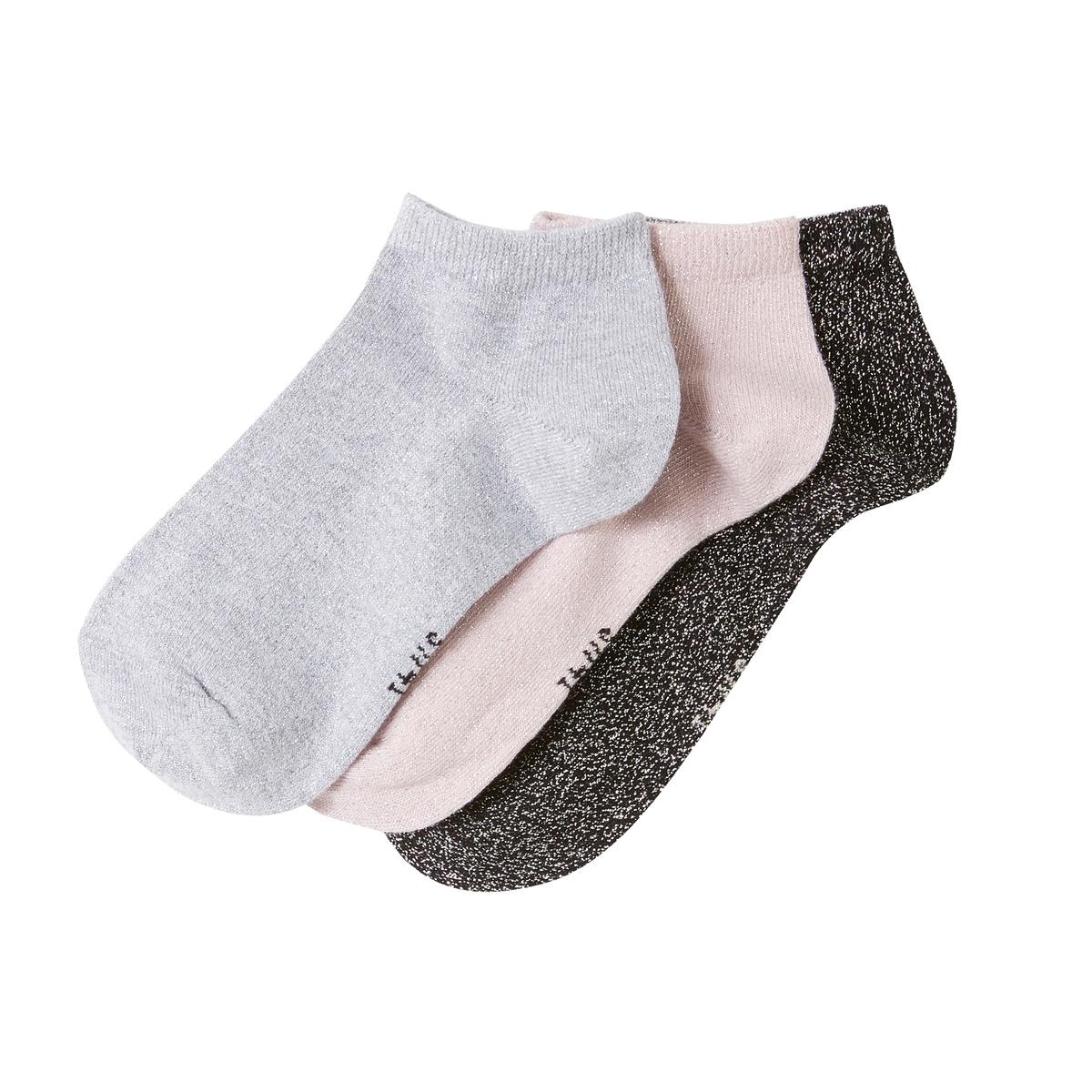 3 пары носков с волокнами с металлическим блеском