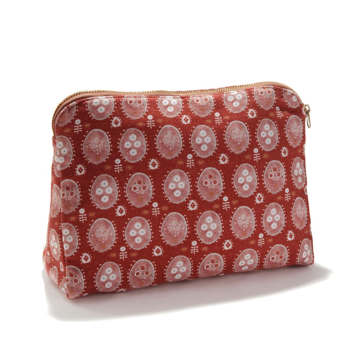 Сумка-косметичка La Redoute С принтом Indian Summer единый размер розовый