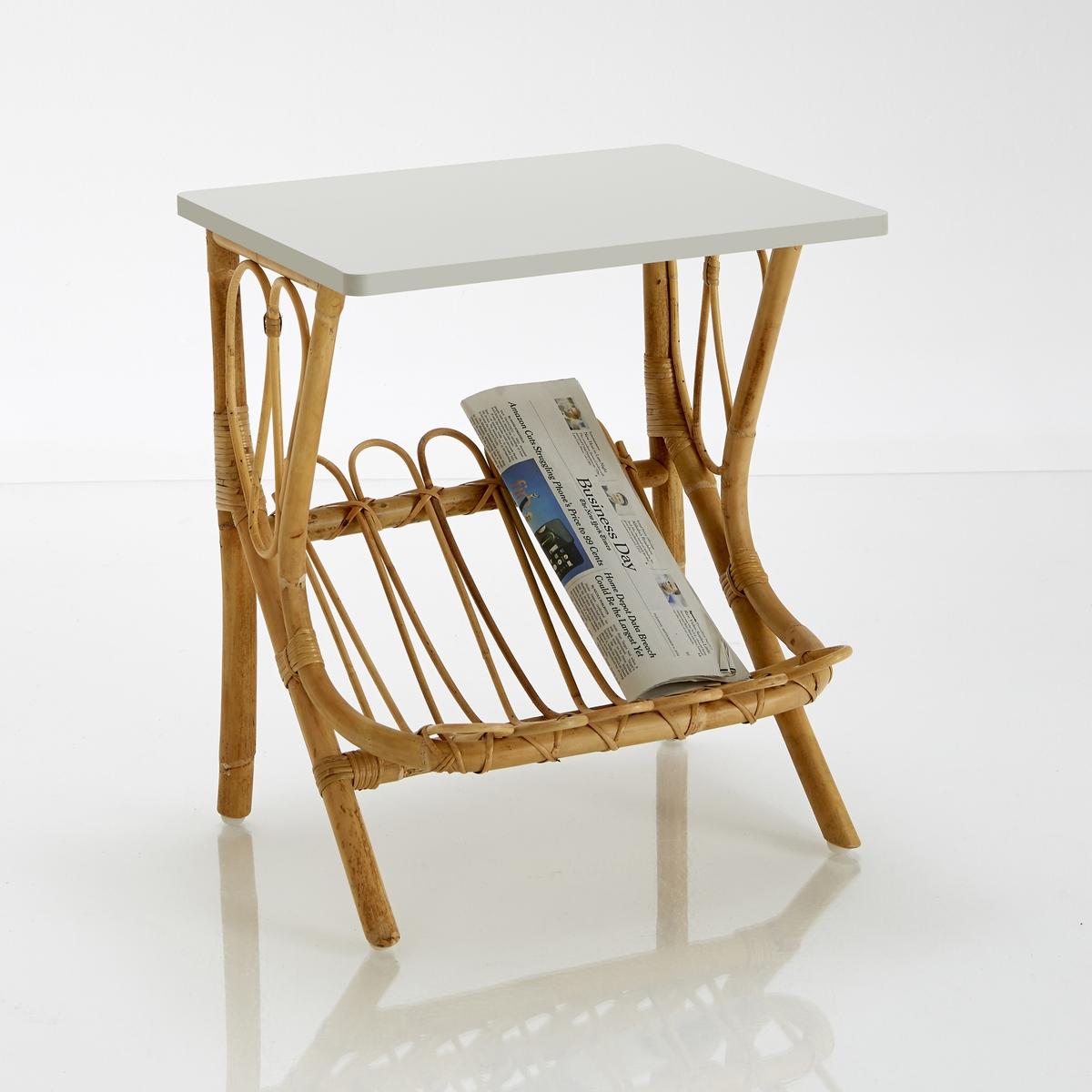 Ночной столик из ротанга, KokНочной столик из ротанга, Kok : качество, прочность и долговечность - вот преимущества этого ночного столика из натурального ротанга с лакированной столешницей : этот ночной столик может также использоваться с диваном благодаря отделению для журналов и декоративному дизайну в стиле ретро !Характеристики ночного столика Kok :Каркас из натурального ротангаСтолешница из МДФ, покрытого акриловым лаком.Пластиковые вставки под ножкамиПроизведено вручнуюОткройте для себя всю коллекцию мебели из натурального ротанга на сайте laredoute.ruРазмеры ночного столика Kok :Длина : 47 смВысота : 52 смГлубина : 37 смРазмеры и вес упаковки :1 упаковкаШир. 60 x Выс. 50 x Гл. 45 см4,5 кгДоставка :Ночной столик Kok продается в разобранном виде. Он доставляется на дом по предварительной заявке, даже до квартиры !Внимание ! Убедитесь, что посылку возможно доставить на дом, учитывая ее габариты.<br><br>Цвет: зеленый сине-зеленый,светло-серый