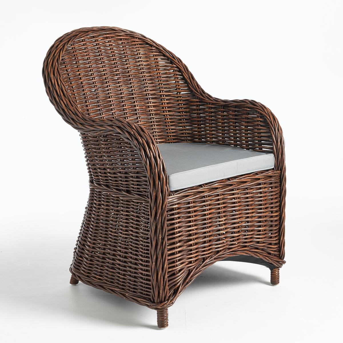 купить Кресло La Redoute Садовое плетеное Elmer единый размер каштановый дешево