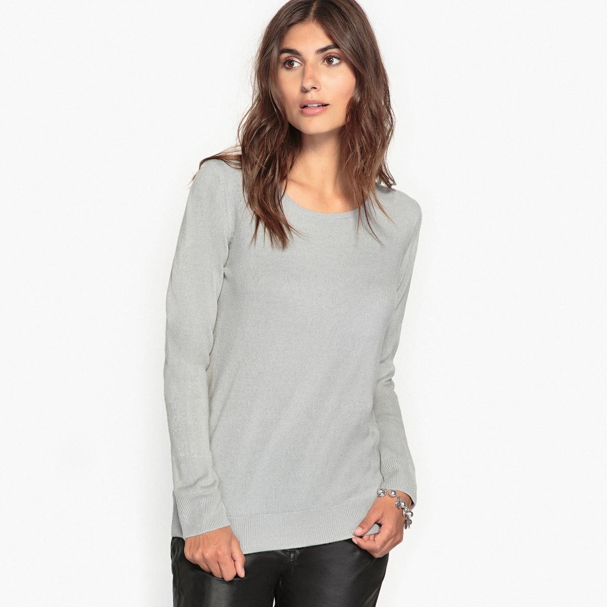 Пуловер с круглым вырезом из трикотажа под кашемир