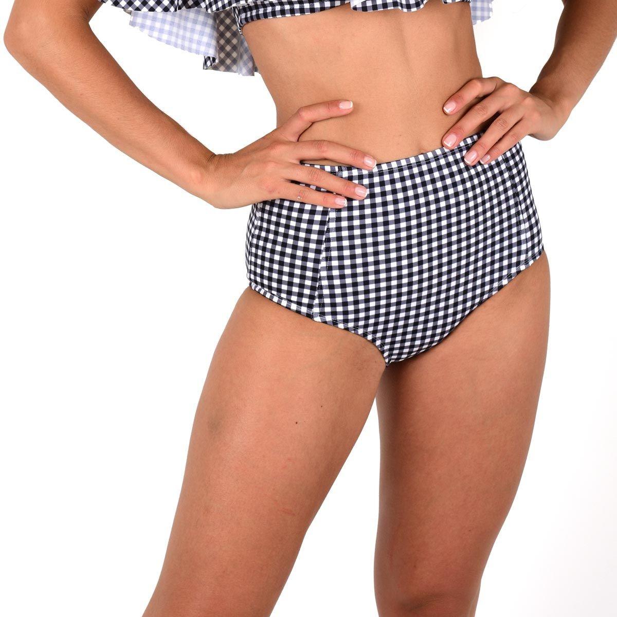 Ma Culotte Taille Haute imprimé vichy (Bas)
