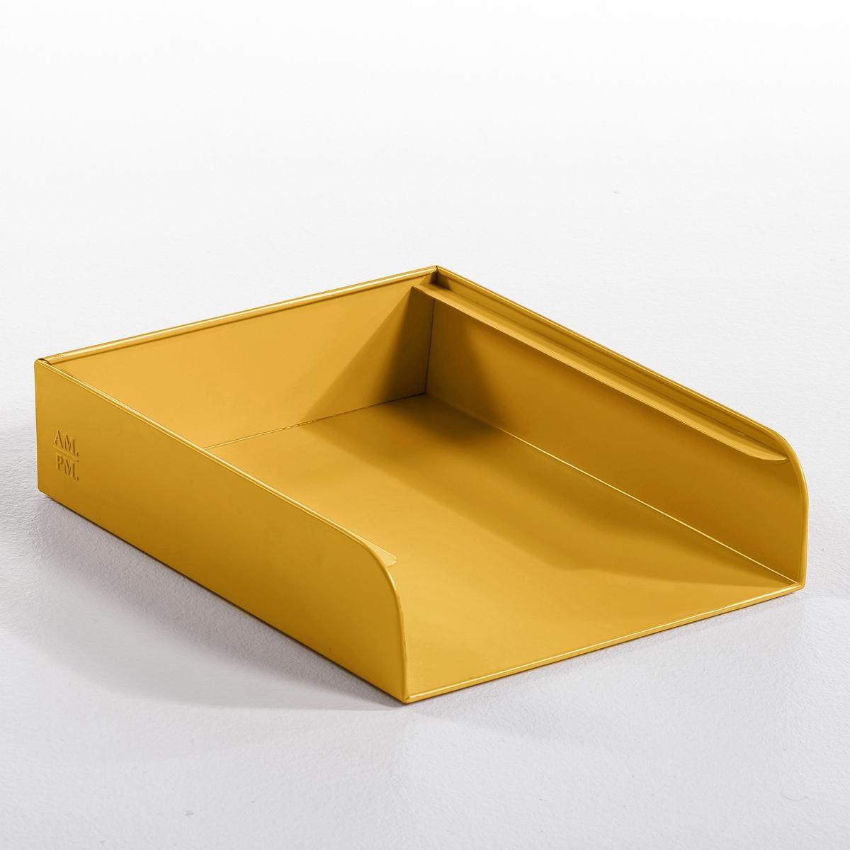 Органайзер для бумагОрганайзер для бумаг Arreglo. Новая коллекция декора с закругленными углами балансирует на грани современности и стиля ретро. Гамма из 7 цветов, легко сочетающихся между собой. Из гаванизированного металла или с матовым эпоксидным покрытием. Рельефный логотип AM.PM. Размер: ширина 26,5 х глубина 32,5 х высота 7,5 см.<br><br>Цвет: малиновый,серый,телесный матовый<br>Размер: единый размер.единый размер.единый размер
